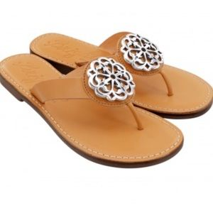 NEW Brighton Alice Tan Thong Sandals Size 8M